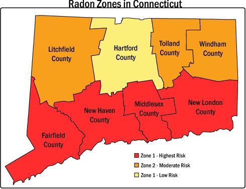 CT Radon Gas Map